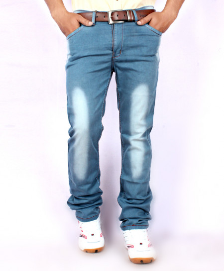 Sky Blue Shaded Stylish Jeans