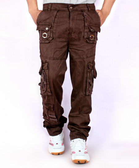 Dark Brown 7 Pockets Trouser