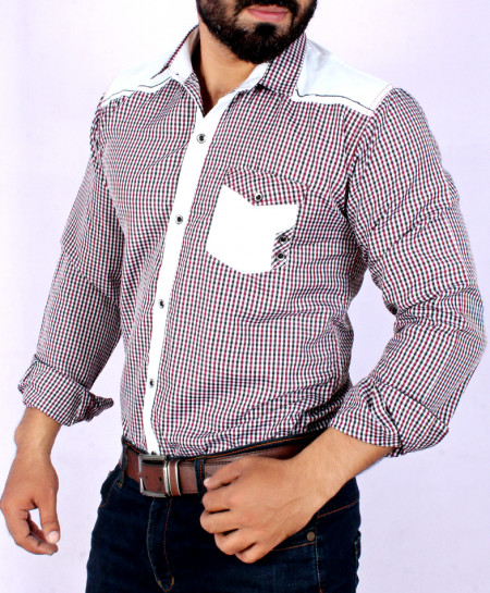 Multi Color Checkered Stylish Casual Shirt FW-04