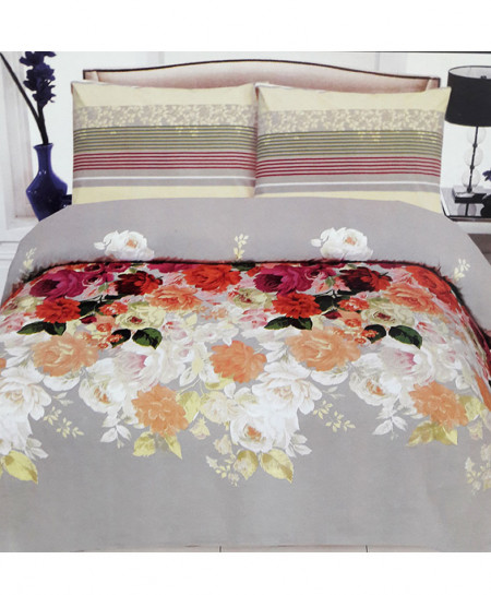 Multi Color Floral Style Cotton Bedsheet SY-367