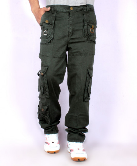 Dark Green 7 Pockets Stylish Trouser