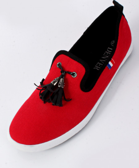 Red Stylish Canvas Shoes SC-0027