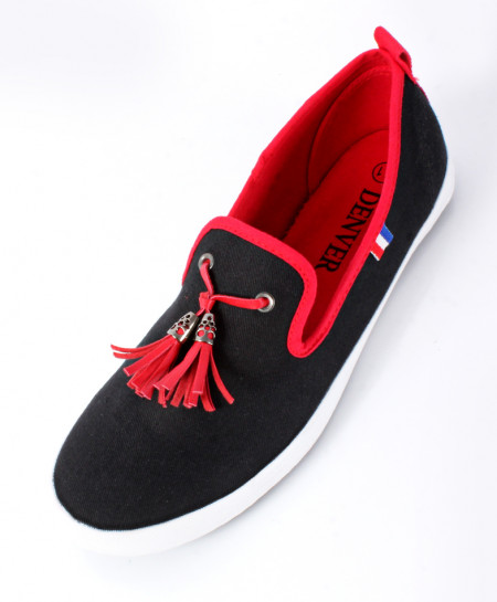 Black Stylish Canvas Shoes SC-0027