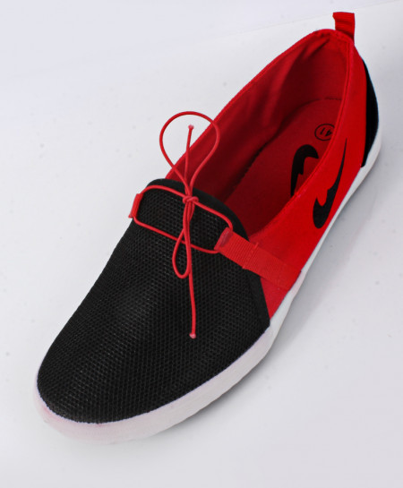 Black And Red Canvas Shoes SC-1010