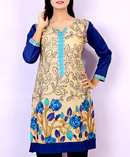 Dark Blue Embroidered Stylish Kurti KC-3370