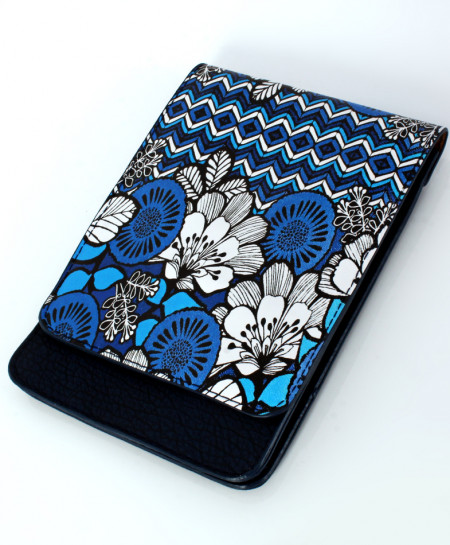 Black Floral Design Stylish Ladies Clutch GL-1203