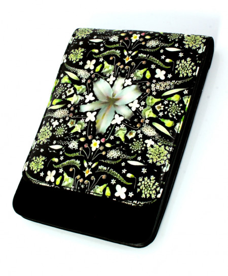 Black Floral Varicolored Stylish Ladies Clutch GL-1204