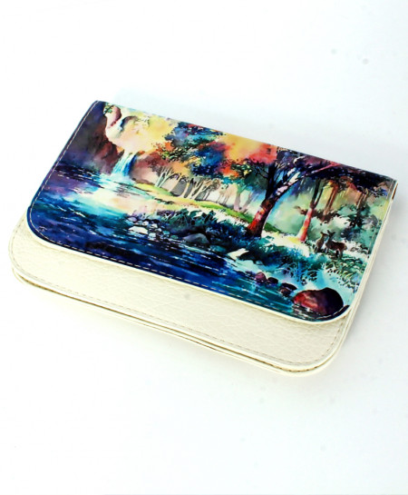 Lake Scenery Printed Design Stylish Clutch GL-1207