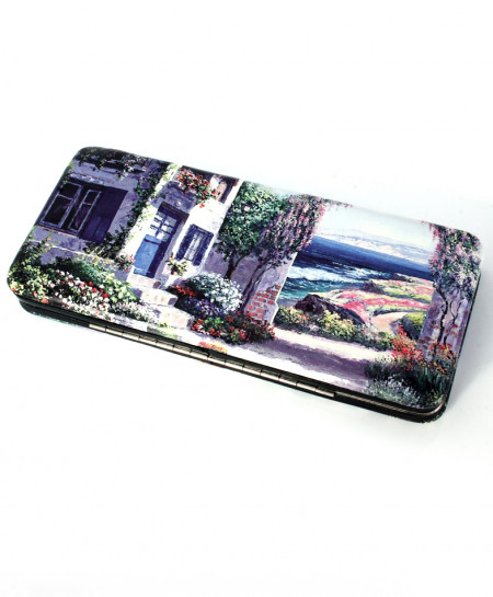 Vintage Scenery Printed Design Stylish Clutch GL-1217