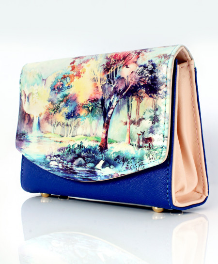Tree Printed Design Stylish Ladies Clutch GL-1225