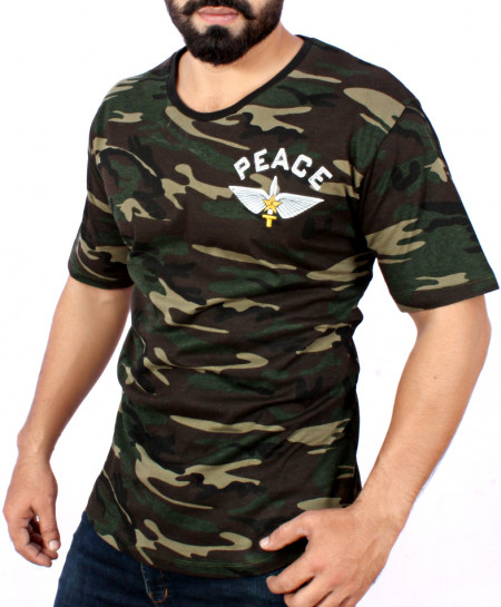 Peace Army Camouflage Stlylish T-Shirt QZS-081