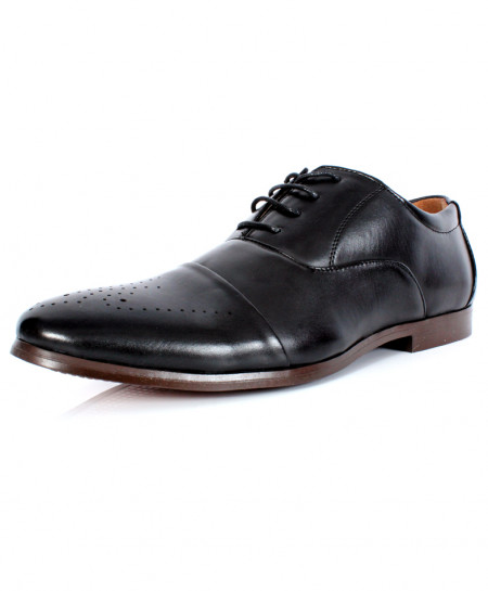 Black Stitched Design Formal Shoes CB-2109
