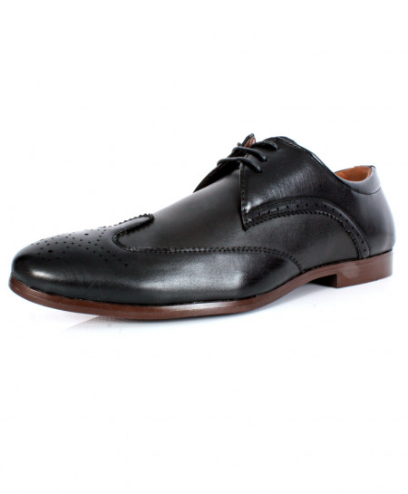 Black Front Stitched Design Formal Shoes CB-2110
