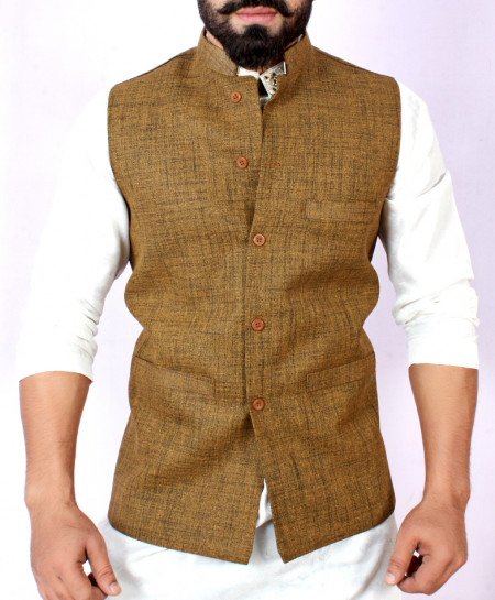 Brown Stylish Design Waistcoat FD-1002