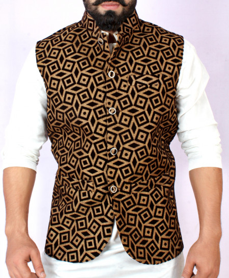 Choco Brown Stylish Design Waistcoat FD-1016