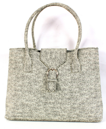 Grey Balck Texture Design Ladies Handbag WT-3006