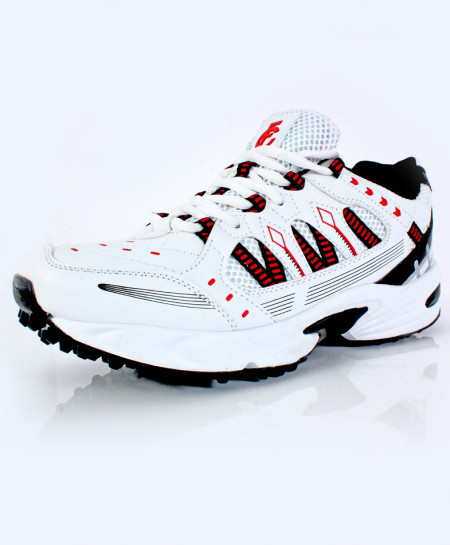 White Red Stitched Design Stylish Sports Shoes DR-339
