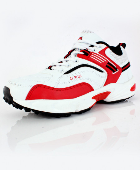 White Red Stitched Design Stylish Sports Shoes DR-342