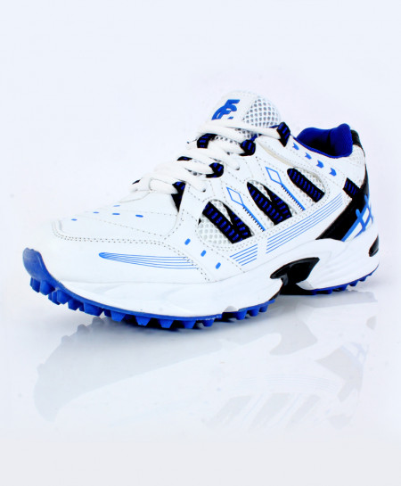 White Blue Stitched Design Stylish Sports Shoes DR-343
