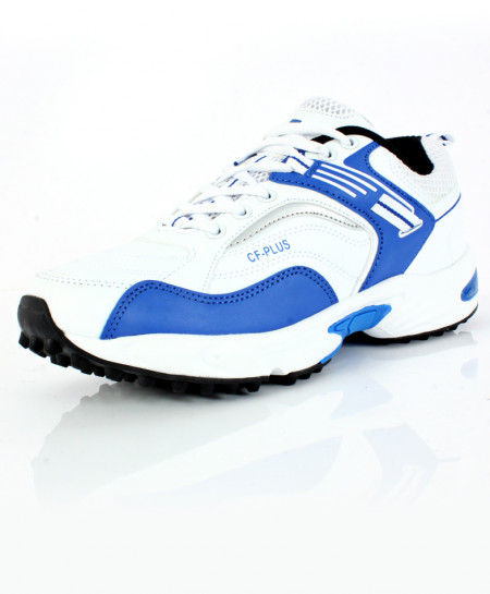 Blue White Stitched Design Sports Shoes DR-347