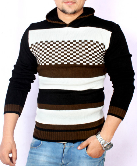 MultiColor Striper Stylish Hooded Sweater KG-8