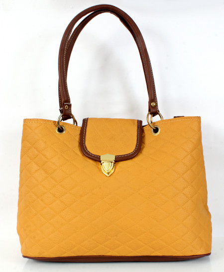 Light Brown Stitched Stylish Handbag WT-3046