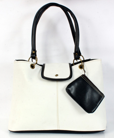 White Stitched Stylish Handbag WT-3048