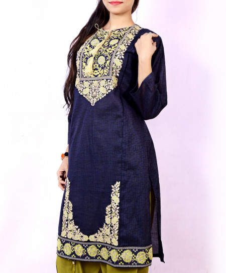 Blue Olive Embroidered Stylish Ladies Suit NM-1006