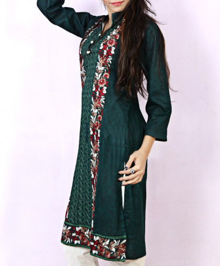 Dark Green Embroidered Stylish Ladies Suit NM-1007
