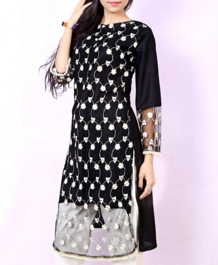 Black White Stylish Ladies Suit NM-1012