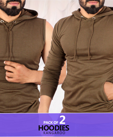 Pack of 2 Kangroo Stylish Hoodies ST-907