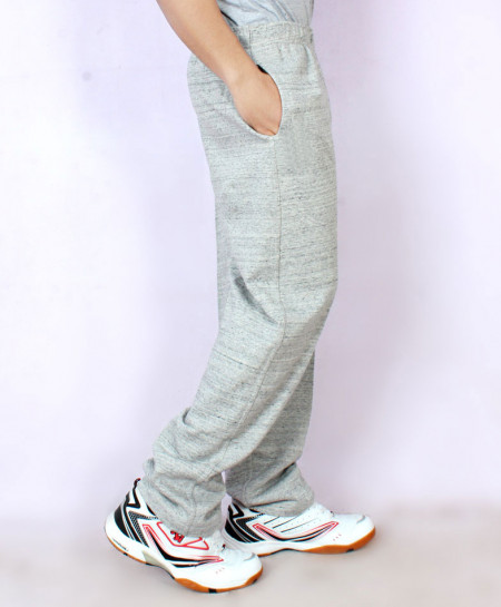 Heather Grey Textured Fleece Trouser FSL-061