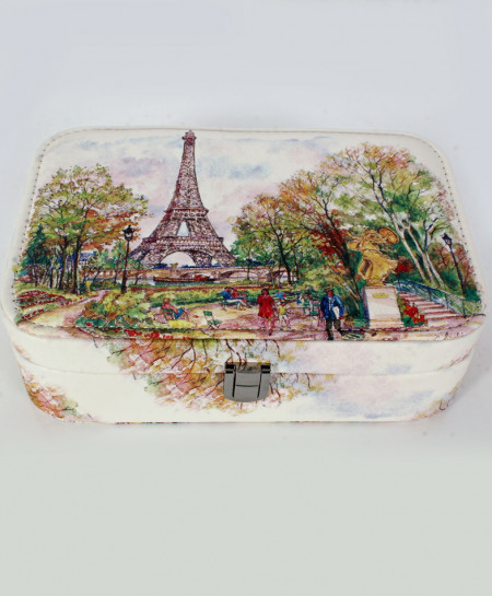 Eiffel tower Painting Printed Makeup Box GL-1238