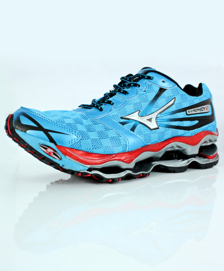 Blue Red Stitched Design Sports Shoes DR-362