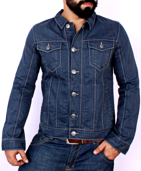 Blue Denim Stylish Jacket SA-001
