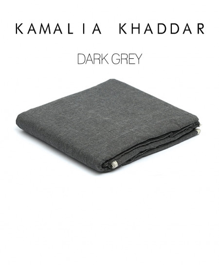 Dark Grey Kamalia Khaddar Unstiched Suit NMC-01