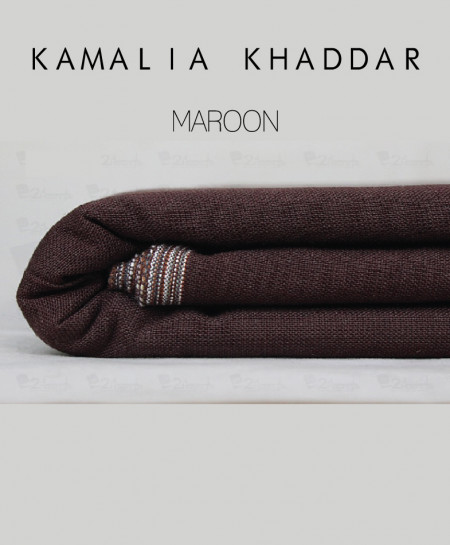 Maroon Winter Kamalia Khaddar Unstiched Suit NMC-02