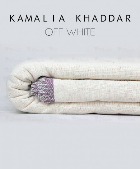 Off White Winter Kamalia Khaddar Unstiched Suit NMC-04
