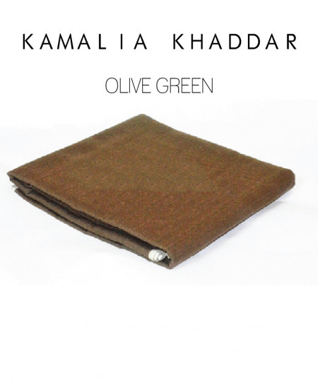 Olive Green Winter Kamalia Khaddar Unstiched Suit NMC-05