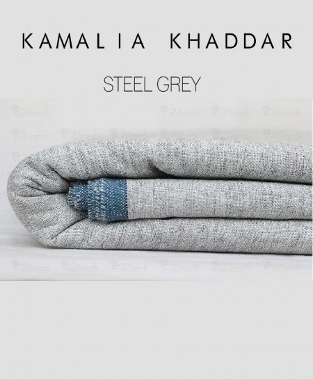 Steel Grey Winter Kamalia Khaddar Unstiched Suit NMC-06
