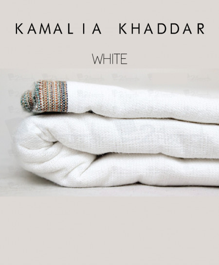White Winter Kamalia Khaddar Unstiched Suit NMC-07