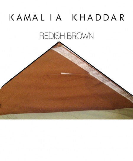 Reddish Brown Kamalia Khaddar Unstiched Suit NMC-15
