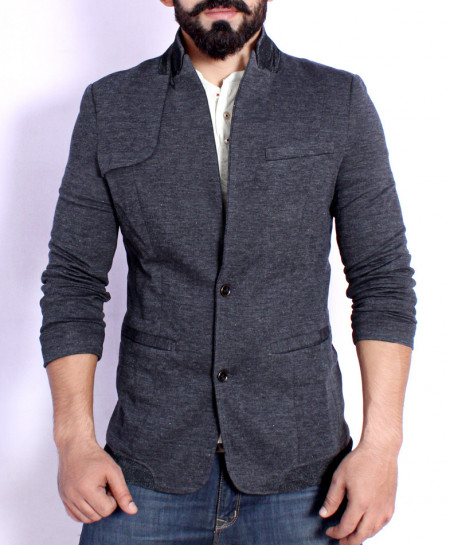 Charcoal Slim Fit Dual Inner Blazer HG-1184