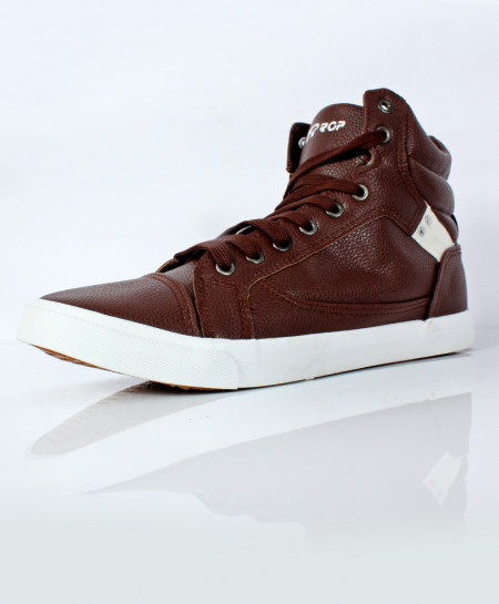 Coffee Brown High Ankle Sneakers SC-56