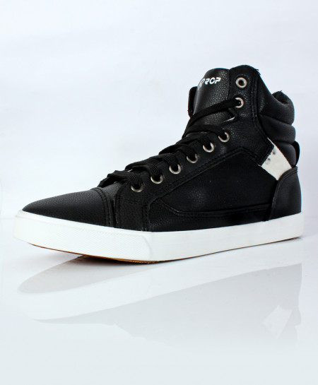 Black High Ankle Sneakers SC-57