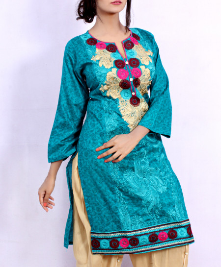 Blue Front Embroidered Stylish Ladies Suit NM-1014