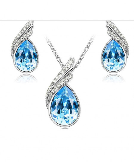 Austrian Crystal Jewelry Set For Women Emo-34