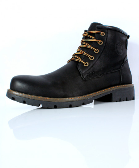 Black Side Zipper Stylish Casual Boots CR-2725