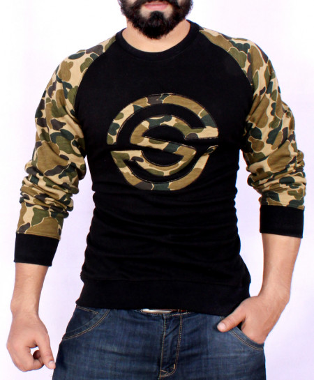 Black Camouflage Stylish Sweat Shirt SF-013