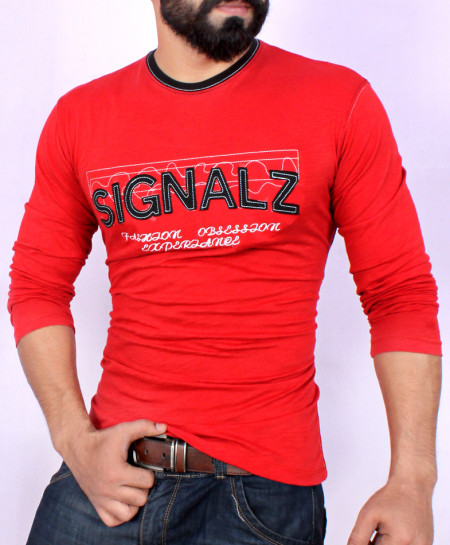 Red Crew Neck T-Shirt SF-014